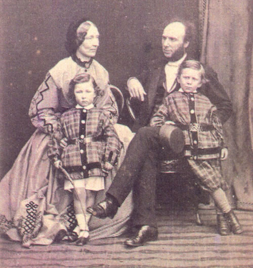 Frederick & Mary Carter and two of their children